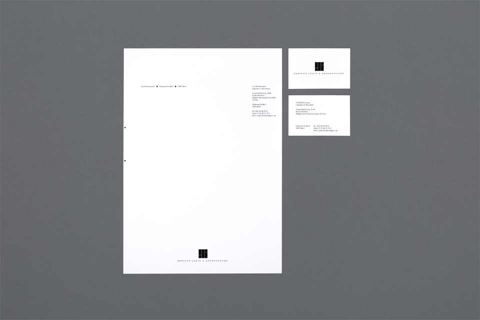 Civil engineer ci daniel hierl design office a new logo a business card and writing paper were designed bartens lentz and grandemenge is a shared office community in berlin germany reheart Gallery
